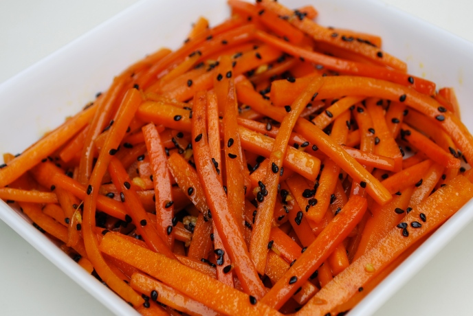 Carrots with Black Sesame & Ginger