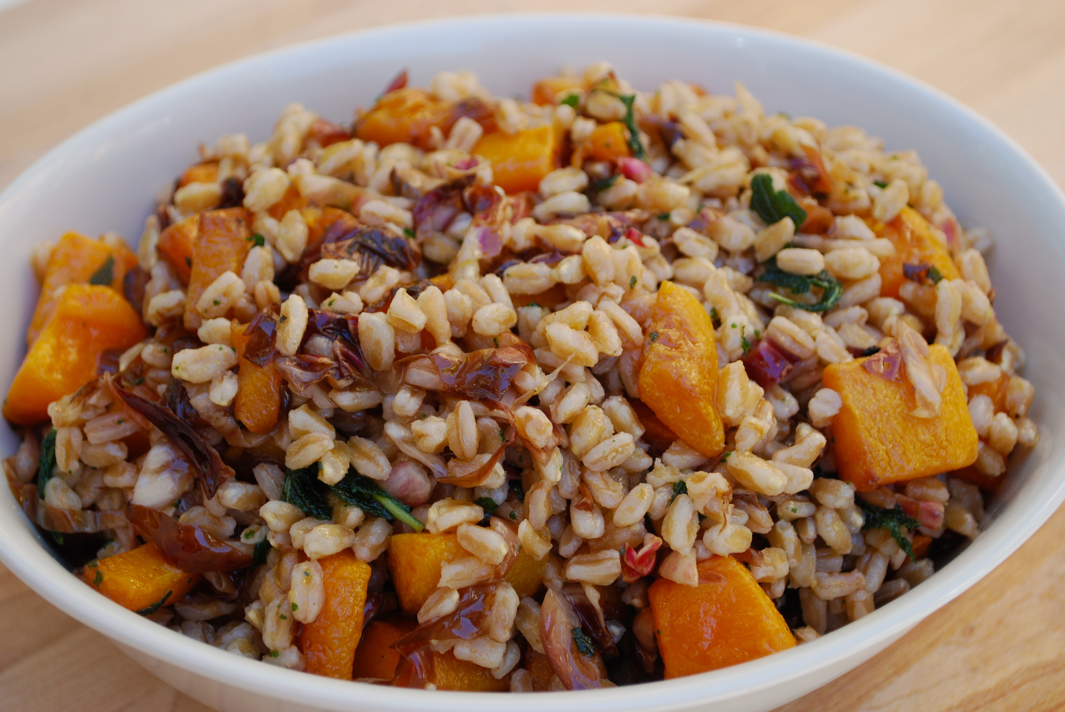Farro Salad with Roasted Squash, Radicchio & Sage | Time to Cook!