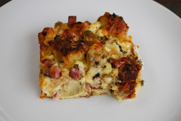 Goat Cheese Strata