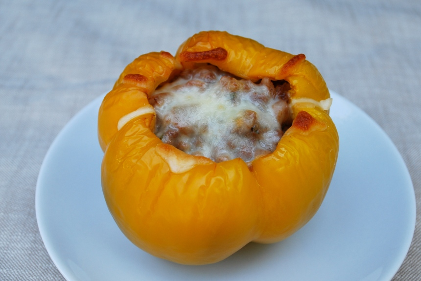Meat Stuffed Bell Peppers
