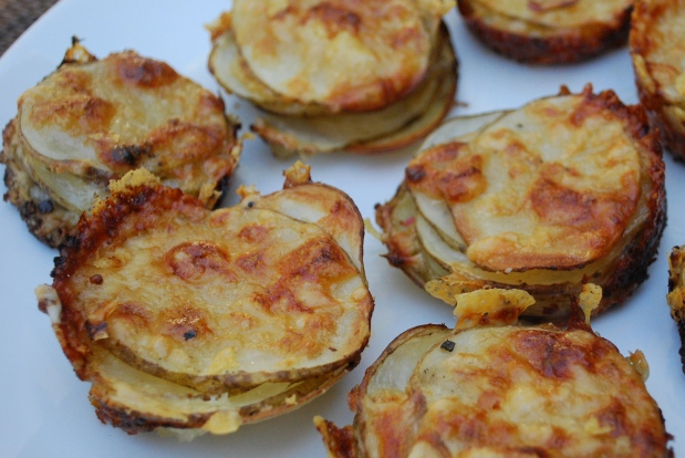 Personal Potato Gratin Stacks