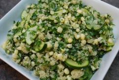 Quinoa with Zucchini, Corn, Parsley & Basil